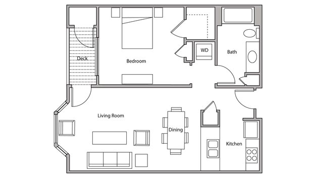 1 Bedroom 1 Bathroom Apartment for rent at City Place in Madison, WI