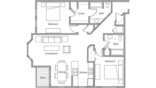 2 Bedrooms 1 Bathroom Apartment for rent at City Place in Madison, WI