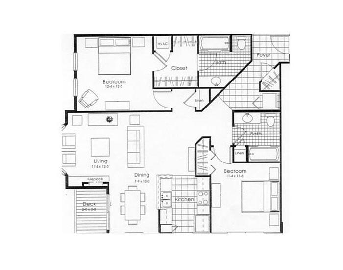 2 Bedrooms 2 Bathrooms Apartment for rent at City Place in Madison, WI