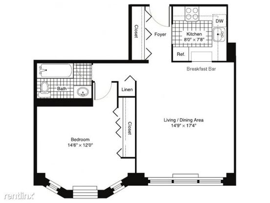 1 Bedroom 1 Bathroom Apartment for rent at 320 West Illinois Street in Chicago, IL