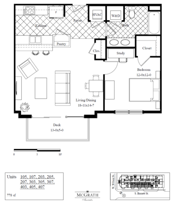 1 Bedroom 1 Bathroom Apartment for rent at Lake Park in Madison, WI