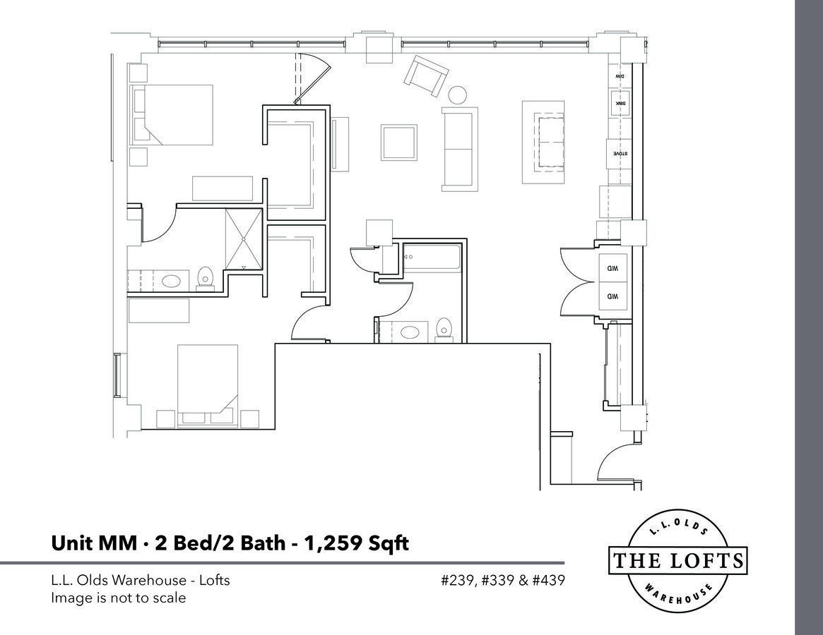 2 Bedrooms 2 Bathrooms Apartment for rent at L. L. Olds Warehouse Lofts in Madison, WI