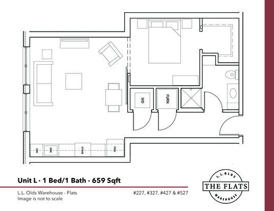 1 Bedroom 1 Bathroom Apartment for rent at L. L. Olds Warehouse Flats in Madison, WI