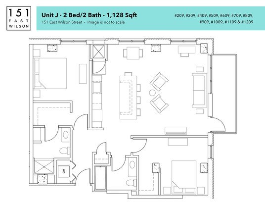 2 Bedrooms 2 Bathrooms Apartment for rent at 151 E Wilson in Madison, WI