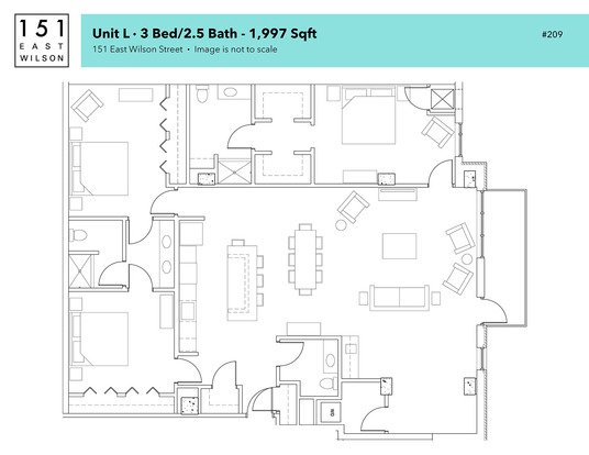 3 Bedrooms 2 Bathrooms Apartment for rent at 151 E Wilson in Madison, WI