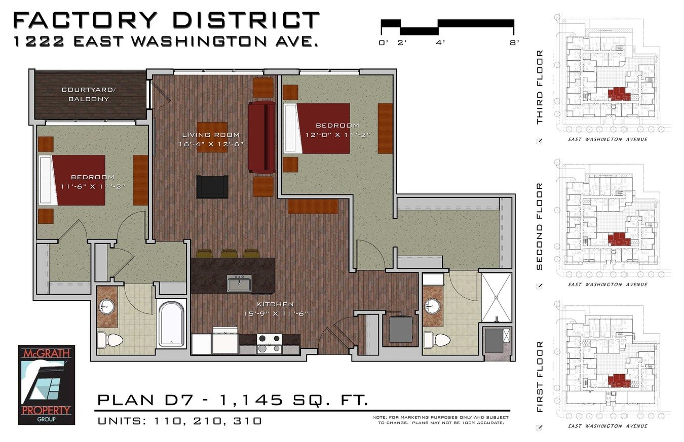 2 Bedrooms 2 Bathrooms Apartment for rent at Factory District Apartments in Madison, WI