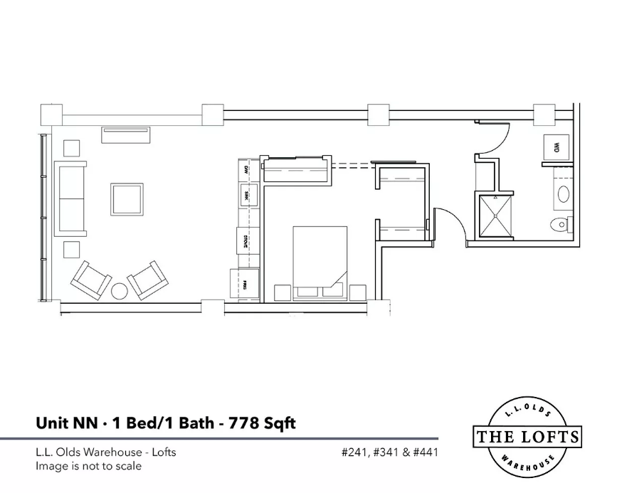 1 Bedroom 1 Bathroom Apartment for rent at L. L. Olds Warehouse Lofts & Flats in Madison, WI