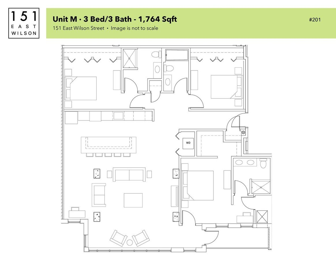 3 Bedrooms 3 Bathrooms Apartment for rent at 151 East Wilson in Madison, WI