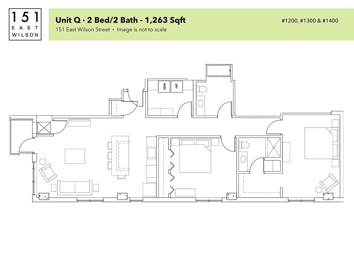 2 Bedrooms 2 Bathrooms Apartment for rent at 151 East Wilson in Madison, WI