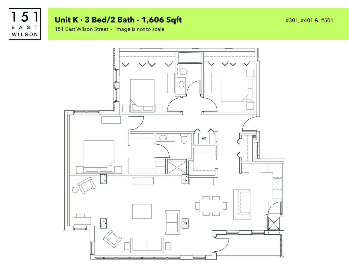 3 Bedrooms 2 Bathrooms Apartment for rent at 151 East Wilson in Madison, WI