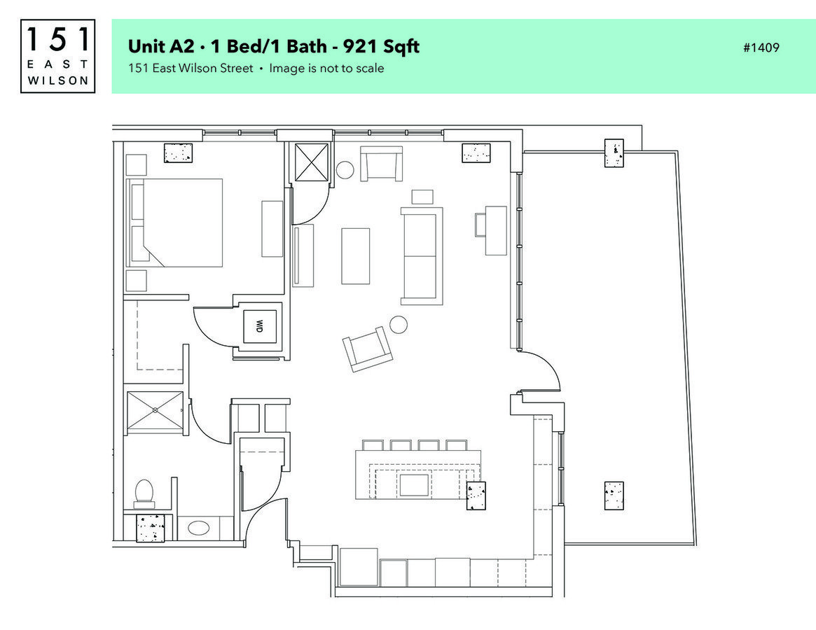 1 Bedroom 1 Bathroom Apartment for rent at 151 East Wilson in Madison, WI