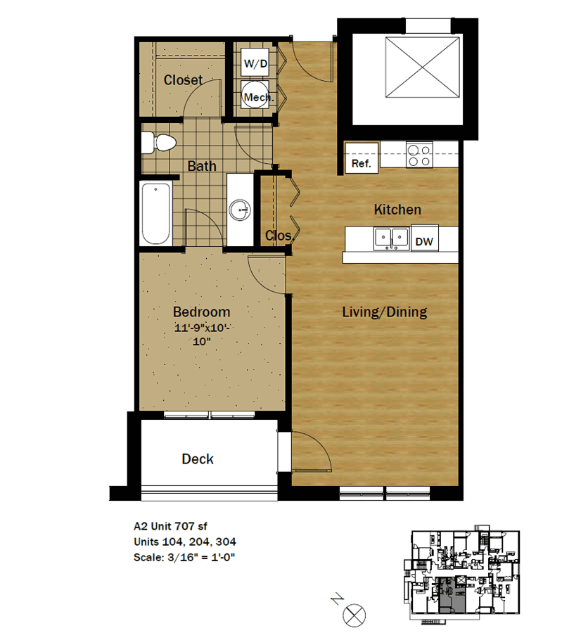 1 Bedroom 1 Bathroom Apartment for rent at Settlement Place in Madison, WI