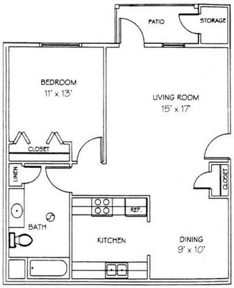 1 Bedroom 1 Bathroom Apartment for rent at Windsor Pond Apartment Homes in Madison, WI