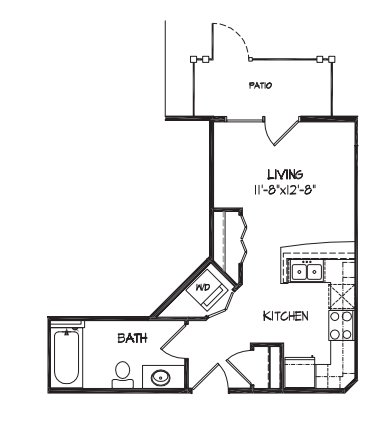 Studio 1 Bathroom Apartment for rent at City Row Apartments in Madison, WI