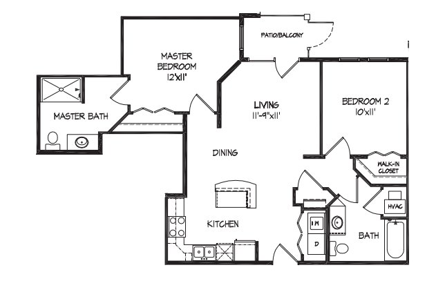 2 Bedrooms 1 Bathroom Apartment for rent at City Row Apartments in Madison, WI
