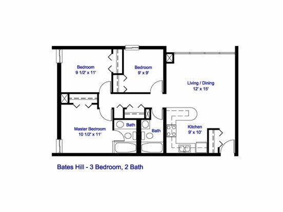3 Bedrooms 2 Bathrooms Apartment for rent at Bates Hill Apartments in Pittsburgh, PA