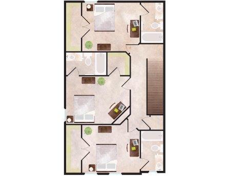3 Bedrooms 4+ Bathrooms Apartment for rent at Aspen Heights in Auburn, AL