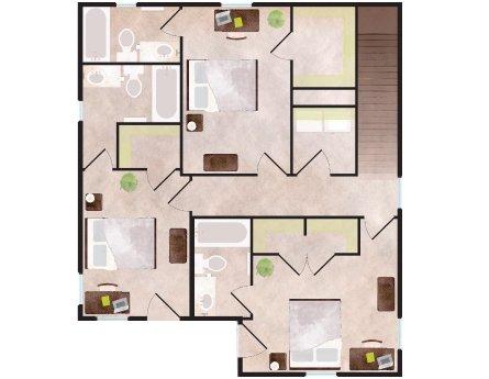 4 Bedrooms 4+ Bathrooms Apartment for rent at Aspen Heights in Auburn, AL