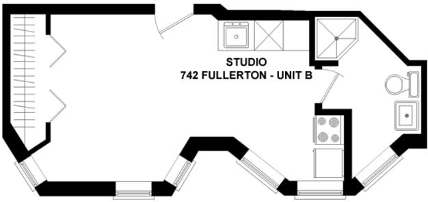 Studio 1 Bathroom Apartment for rent at 742 W. Fullerton in Chicago, IL