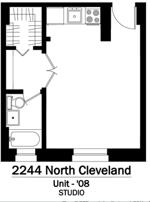 Studio 1 Bathroom Apartment for rent at 2244 N. Cleveland in Chicago, IL