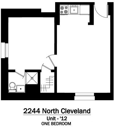 1 Bedroom 1 Bathroom Apartment for rent at 2244 N. Cleveland in Chicago, IL