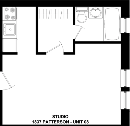 Studio 1 Bathroom Apartment for rent at 1837 W. Patterson in Chicago, IL