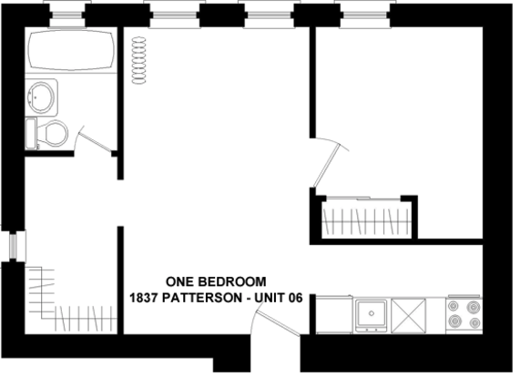 1 Bedroom 1 Bathroom Apartment for rent at 1837 W. Patterson in Chicago, IL
