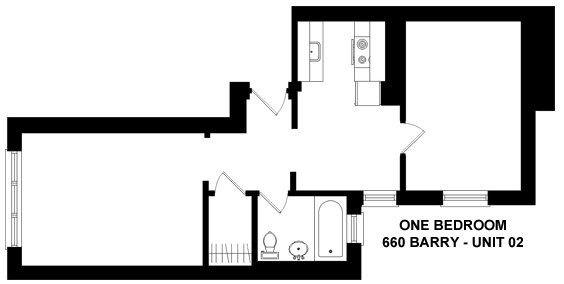 1 Bedroom 1 Bathroom Apartment for rent at 660 W. Barry in Chicago, IL