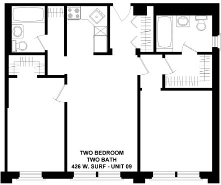2 Bedrooms 2 Bathrooms Apartment for rent at 426 W. Surf in Chicago, IL