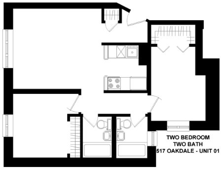2 Bedrooms 2 Bathrooms Apartment for rent at 517 W. Oakdale in Chicago, IL