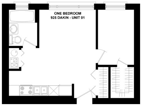 1 Bedroom 1 Bathroom Apartment for rent at 925 W. Dakin in Chicago, IL