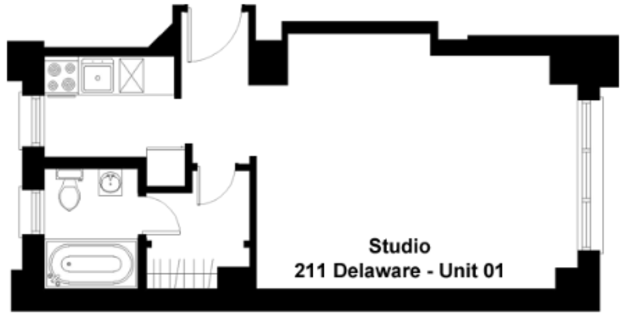 Studio 1 Bathroom Apartment for rent at 211 E. Delaware in Chicago, IL