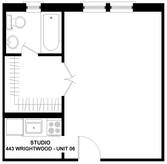Studio 1 Bathroom Apartment for rent at 443 Wrightwood in Chicago, IL