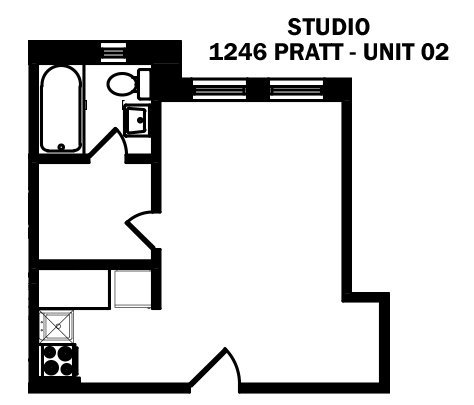 Studio 1 Bathroom Apartment for rent at 1246 W. Pratt in Chicago, IL