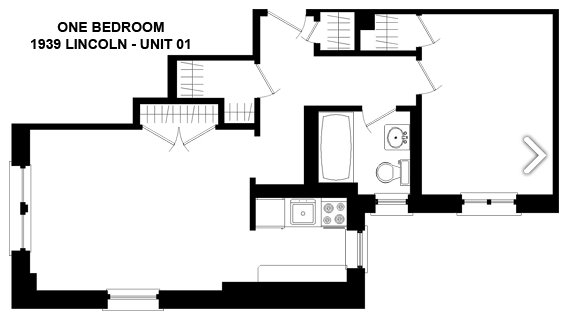 1 Bedroom 1 Bathroom Apartment for rent at 1939 N. Lincoln in Chicago, IL