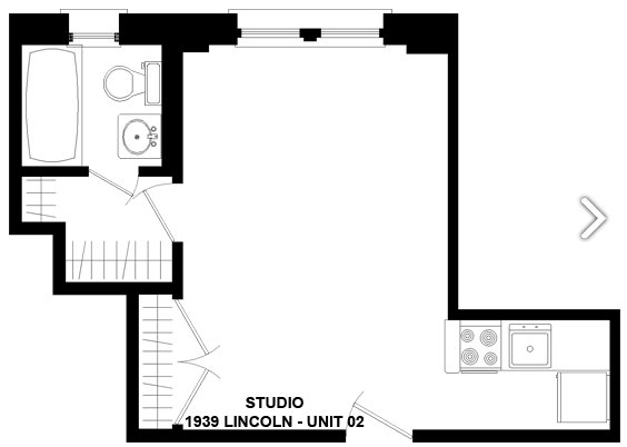Studio 1 Bathroom Apartment for rent at 1939 N. Lincoln in Chicago, IL