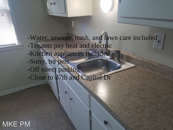 3 Bedrooms 1 Bathroom Apartment for rent at 8702 W Capitol Drive in Milwaukee, WI