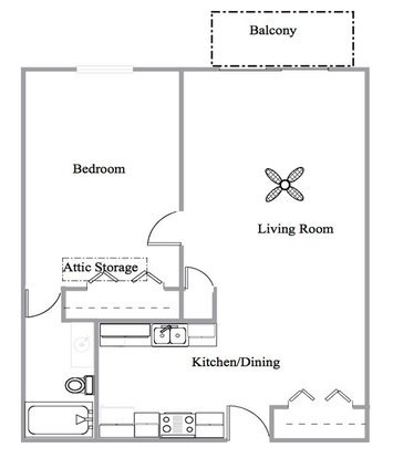 1 Bedroom 1 Bathroom Apartment for rent at Elka Lane Apartments in Madison, WI