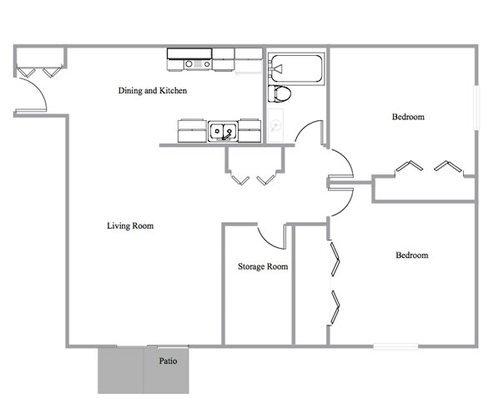 2 Bedrooms 1 Bathroom Apartment for rent at Elka Lane Apartments in Madison, WI