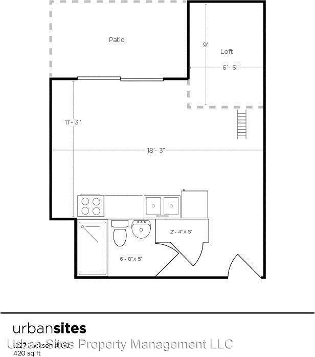 Studio 1 Bathroom Apartment for rent at 1227 Jackson St in Cincinnati, OH