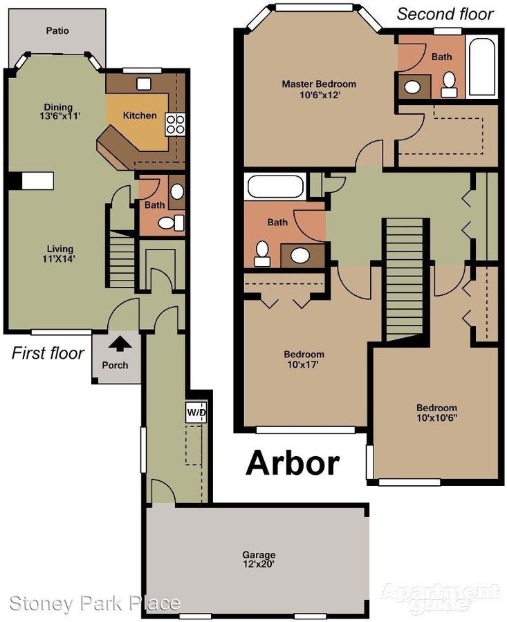 3 Bedrooms 2 Bathrooms Apartment for rent at Stoney Park Place Apartments in Shelby Township, MI