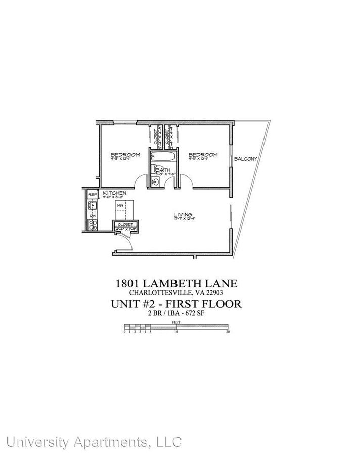 2 Bedrooms 1 Bathroom Apartment for rent at 1801 Lambeth Lane in Charlottesville, VA