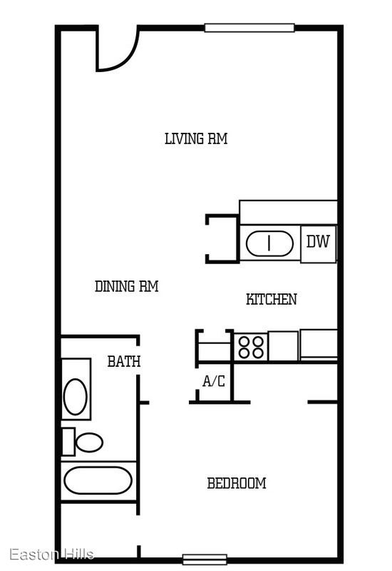 1 Bedroom 1 Bathroom Apartment for rent at Easton Hills Apartments in Austin, TX