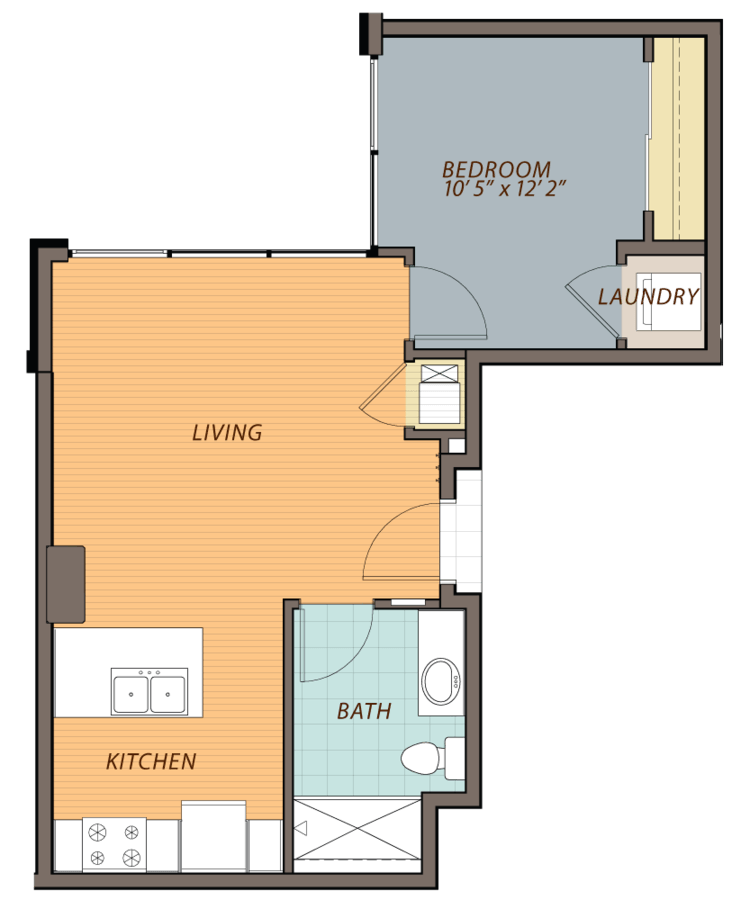 1 Bedroom 1 Bathroom Apartment for rent at Ovation 309 in Madison, WI