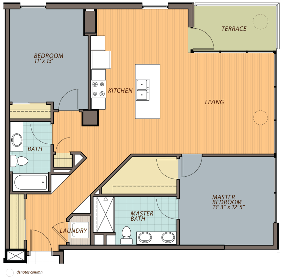 2 Bedrooms 2 Bathrooms Apartment for rent at Ovation 309 in Madison, WI