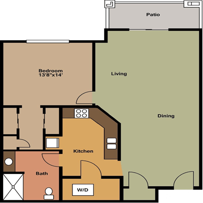 1 Bedroom 1 Bathroom Apartment for rent at Fieldstone Estates Apartments in Madison, WI