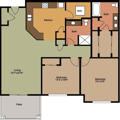 2 Bedrooms 2 Bathrooms Apartment for rent at Fieldstone Estates Apartments in Madison, WI