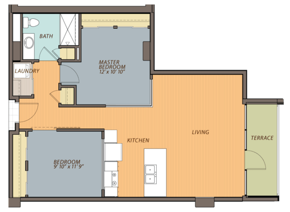 2 Bedrooms 1 Bathroom Apartment for rent at Ovation 309 in Madison, WI