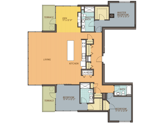 3 Bedrooms 3 Bathrooms Apartment for rent at Ovation 309 in Madison, WI