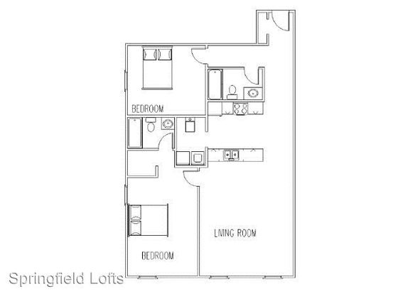 2 Bedrooms 2 Bathrooms Apartment for rent at 509 W. Olive in Springfield, MO